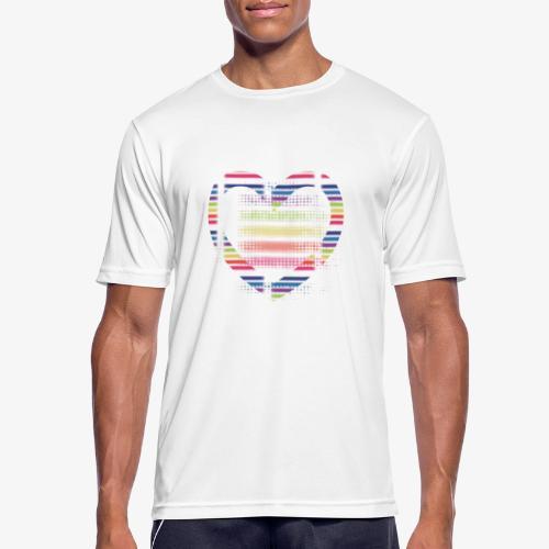 Love - Maglietta da uomo traspirante