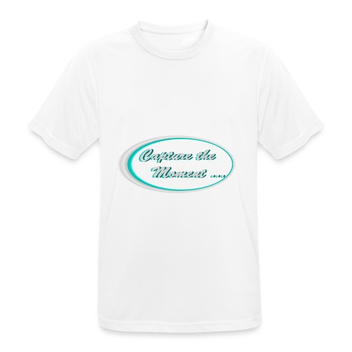Logo capture the moment photography slogan - Men's Breathable T-Shirt