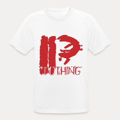 IRON PSYCHO LOGO ORIGINAL-RED - Men's Breathable T-Shirt