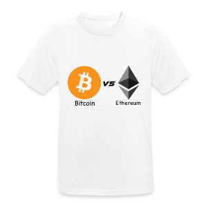 Bitcoin vs ethereum withe ok - Men's Breathable T-Shirt