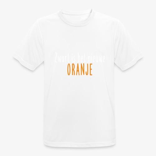 Zwart is het nieuwe oranje - Mannen T-shirt ademend actief