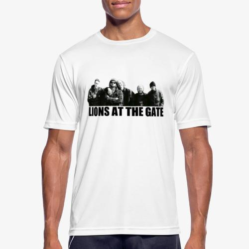 LIONS AT THE GATE SHIRT (WHITE) - Mannen T-shirt ademend actief