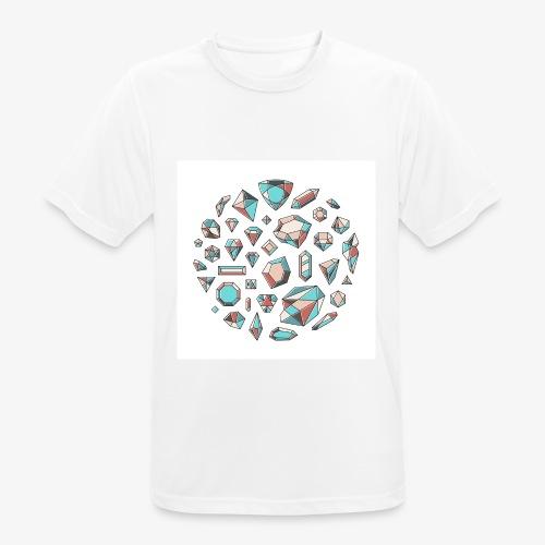 37 diamond shapes 03 jpg - Pustende T-skjorte for menn