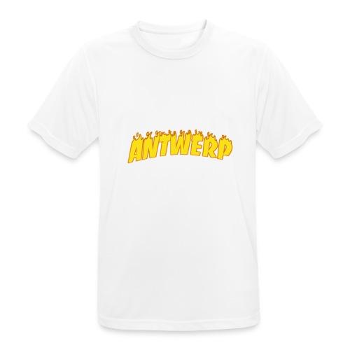 Antwerp T-Shirt Black (Flame logo) - mannen T-shirt ademend