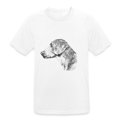 Langhaar Weimaraner - Männer T-Shirt atmungsaktiv
