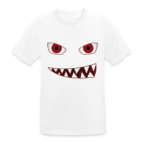 smiling devil emoticon grinning red demon - Männer T-Shirt atmungsaktiv