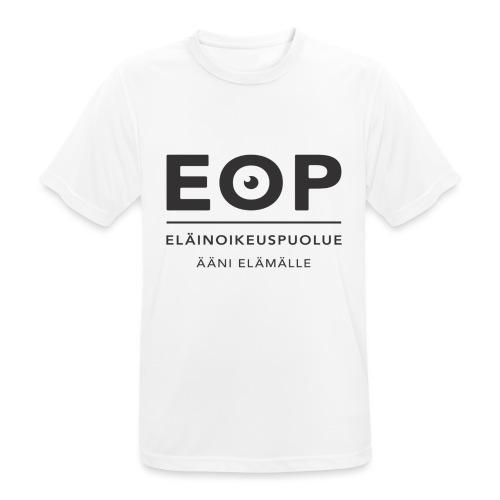EOP Logo slogan musta - miesten tekninen t-paita