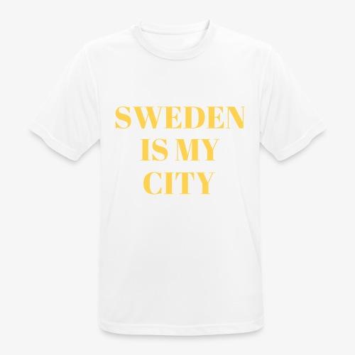 Sverige är min stad - Andningsaktiv T-shirt herr
