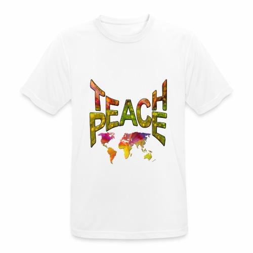 Teach Peace - Men's Breathable T-Shirt