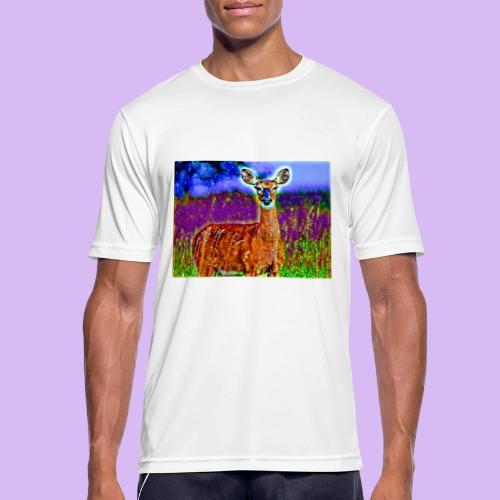 Cerbiatto con magici effetti - Maglietta da uomo traspirante