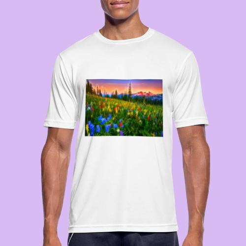Bagliori in montagna - Maglietta da uomo traspirante