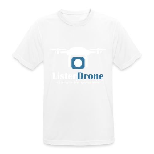 ListerDrone logo - Pustende T-skjorte for menn