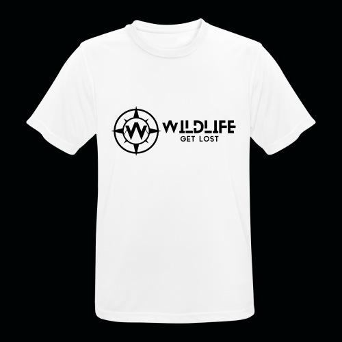 LOGO E SCRITTA WILDLIFE - Maglietta da uomo traspirante