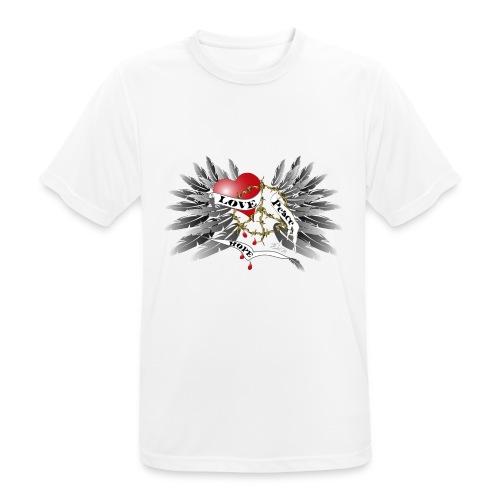 Love, Peace and Hope - Liebe, Frieden, Hoffnung - Männer T-Shirt atmungsaktiv