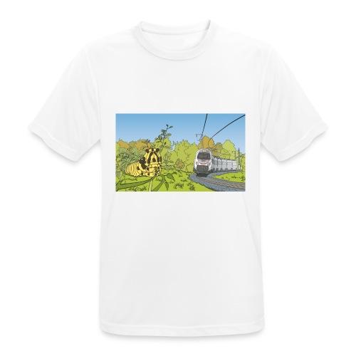 Raupe und Zug - Männer T-Shirt atmungsaktiv