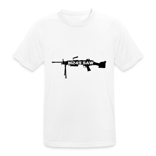 M249 SAW light machinegun design - Mannen T-shirt ademend actief