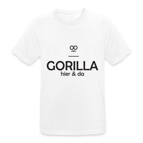 Gorilla hier & da Logo - Männer T-Shirt atmungsaktiv