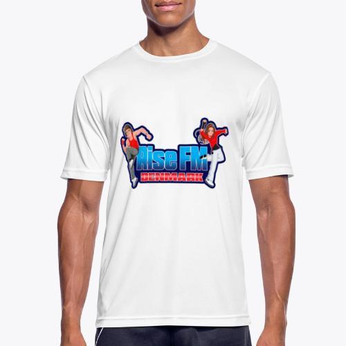 Rise FM Denmark Full Logo - Herre T-shirt svedtransporterende