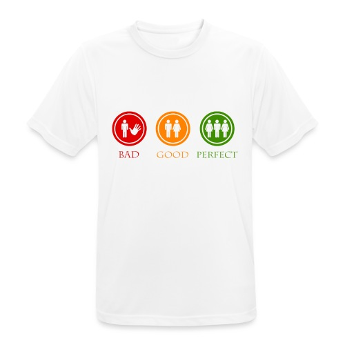 Bad good perfect - Threesome (adult humor) - Mannen T-shirt ademend actief