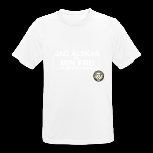 Jag Älskar Min Fru & Bågskytte - Andningsaktiv T-shirt herr