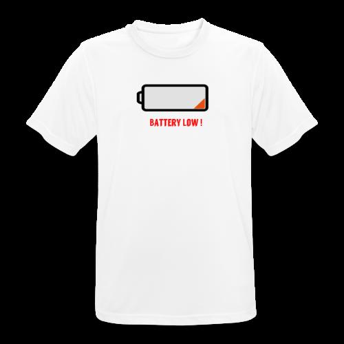 Battery Low - Männer T-Shirt atmungsaktiv