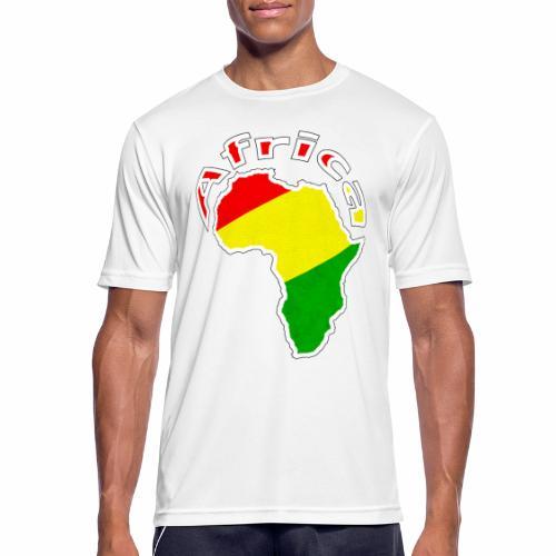 Afrika - rot gold grün - Männer T-Shirt atmungsaktiv