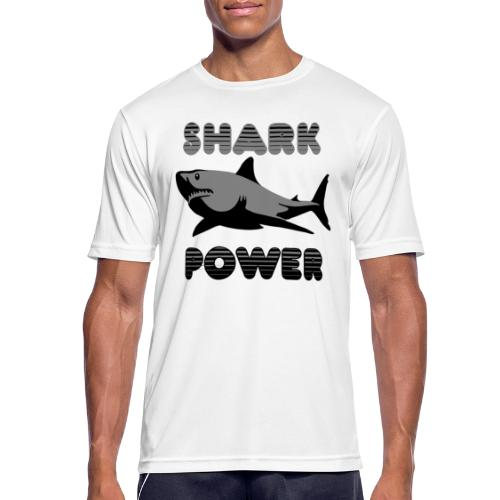 Shark Power Schwarz - Männer T-Shirt atmungsaktiv