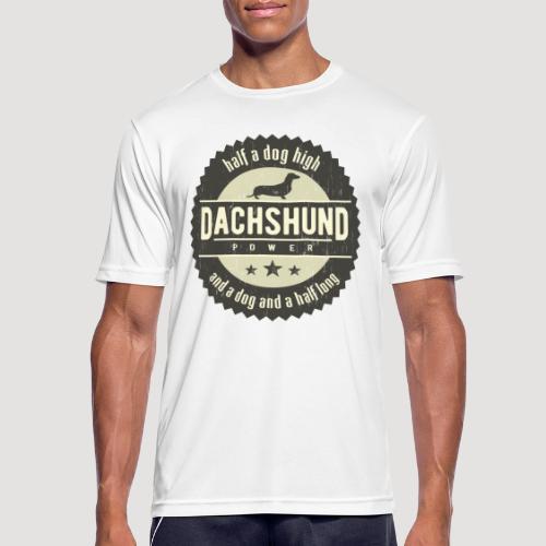 Dachshund Power - Mannen T-shirt ademend actief