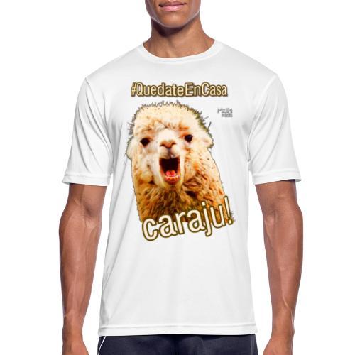 Quedate En Casa Caraju - Men's Breathable T-Shirt