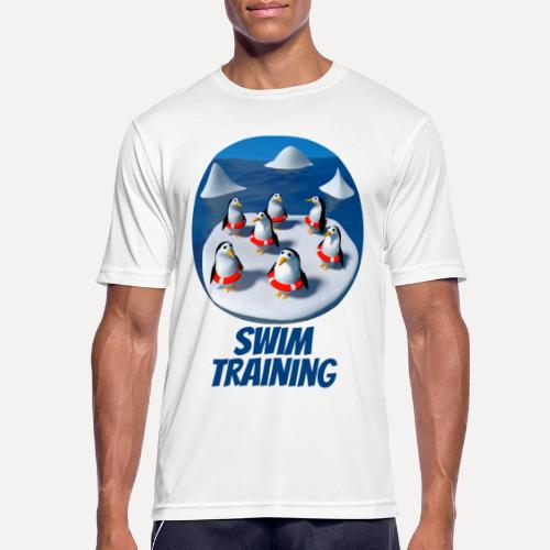 Pinguine beim Schwimmunterricht - Men's Breathable T-Shirt