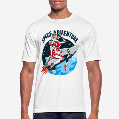 space adventure rocket girl - Männer T-Shirt atmungsaktiv