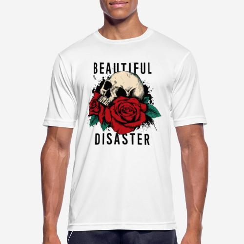 Schädelrosen - Männer T-Shirt atmungsaktiv