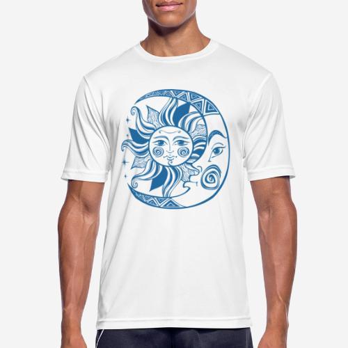 Sonnenmond Astrologie - Männer T-Shirt atmungsaktiv