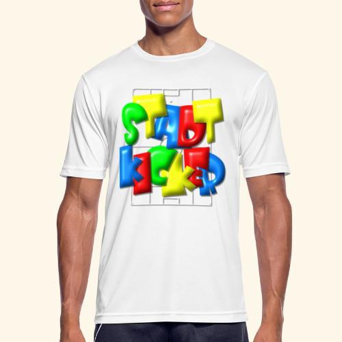 Stadtkicker im Fußballfeld - Balloon-Style - Männer T-Shirt atmungsaktiv