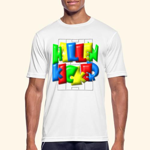 Hallenkicker im Fußballfeld - Balloon-Style - Männer T-Shirt atmungsaktiv