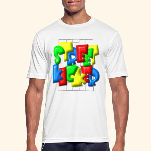Streek Kicker im Fußballfeld - Balloon-Style - Männer T-Shirt atmungsaktiv