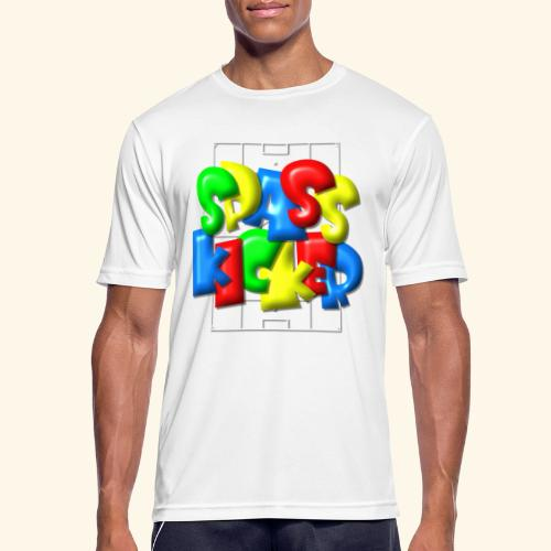 Spass Kicker im Fußballfeld - Balloon-Style - Männer T-Shirt atmungsaktiv
