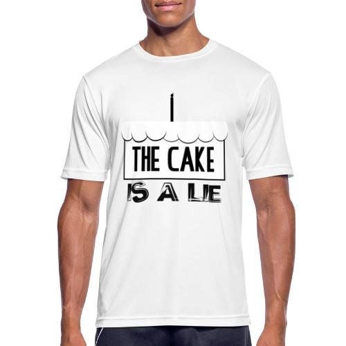Der Kuchen ist eine Lüge - Männer T-Shirt atmungsaktiv