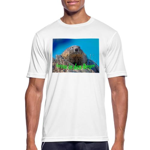 Servus in den Bergen - Männer T-Shirt atmungsaktiv