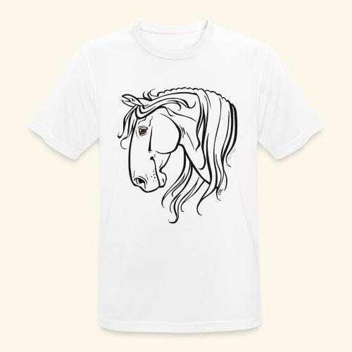 Cheval espagnol (noir) - T-shirt respirant Homme
