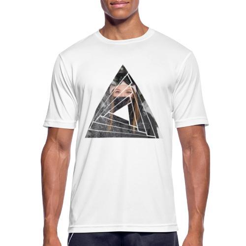 Snow Girl Triangle Graphic Design - Männer T-Shirt atmungsaktiv