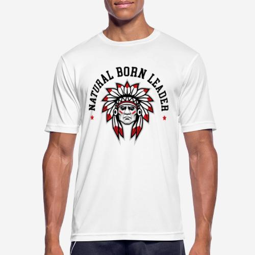 natürlich geborener Führer - Männer T-Shirt atmungsaktiv