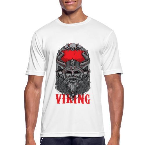 Viking T Shirt Design red - miesten tekninen t-paita