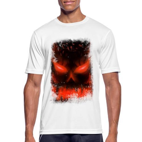 demon skull - T-shirt respirant Homme