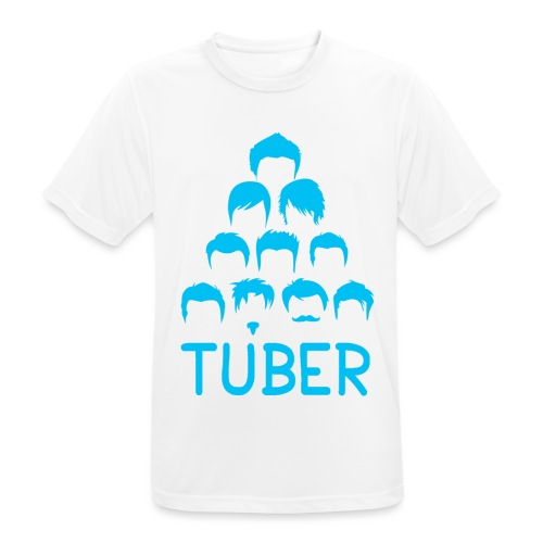 OrdinaryTuber Blue Hair - Men's Breathable T-Shirt