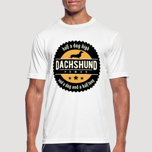 Dachshund Power - mannen T-shirt ademend