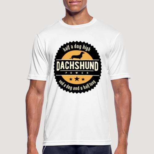 Dachshund Power - Mannen T-shirt ademend