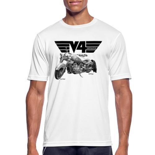 V4 Motorcycles black Wings - Männer T-Shirt atmungsaktiv