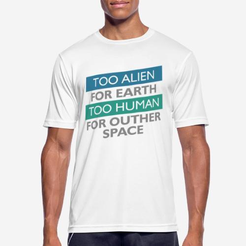 alien space astronaut - Männer T-Shirt atmungsaktiv