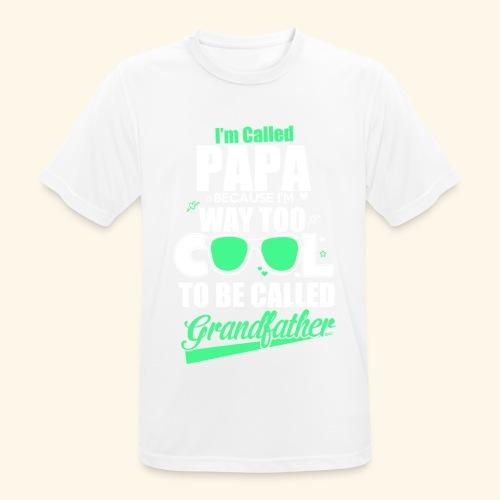 Cooles Papa Opa Grandfather T-Shirt Englisch - Männer T-Shirt atmungsaktiv